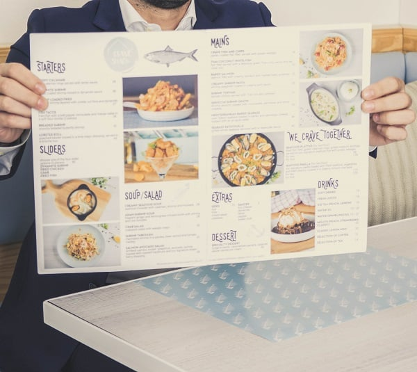 Restaurant Menu Design with Food Images